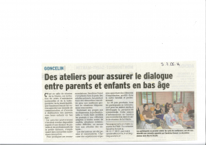 article DL soirée débat Goncelin juin 2014