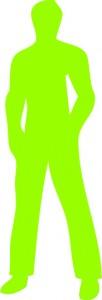 silhouette pro homme vert