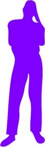 silhouette pro homme violet