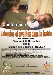 affiche conference rivalités fratrie belley 14 novembre