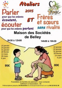 affiche ateliers Belley