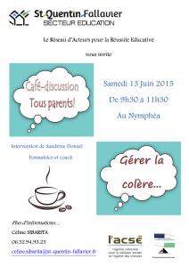 15.06.13 cafe des parents gerer la colere saint quentin fallavier isere