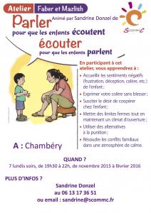 atelier parler pour que les enfants écoutent Chambéry automne 2015
