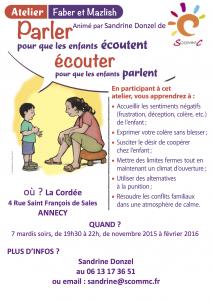 atelier parler pour que les enfants écoutent annecy automne 2015