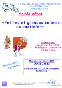 soirée débat petites et grandes coleres moutiers Sandrine DONZEL