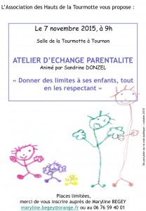 affiche animation donner des limites a son enfant en le respectant Tournon Savoie