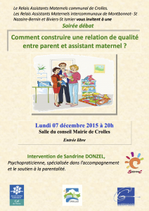 Affiche Conference relation parents Assistante maternelle
