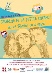 affiche semaine petite enfance Ugine Savoie
