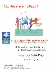 affiche-conference-dangers-cour-recreation-sandrine-donzel