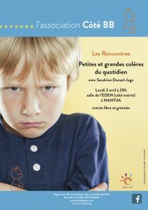 affiche conférence Sandrine Donzel accompagnante parentale colères Nantua