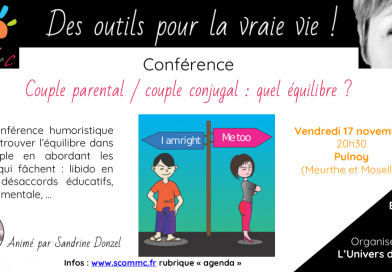 Conférence «Couple parental, couple conjugal : quel équilibre ?» – Nancy (Meurthe et Moselle)