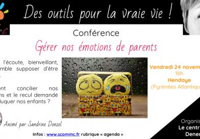 Conférence «Gérer nos émotions de parents» – Hendaye (Pyrénées Atlantiques)