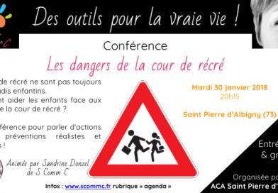 Conférence «les dangers de la cour de récré» – Saint Pierre d'Albigny (73)