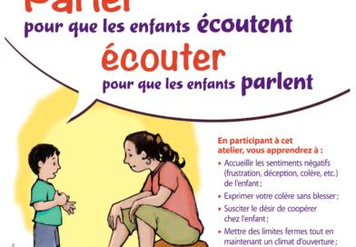 Atelier «Parler pour que les enfants écoutent, écouter pour qu'ils parlent» – Annecy – printemps 2018