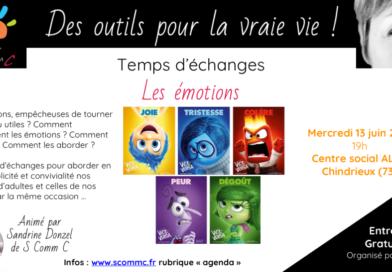 Temps d'échanges «Les émotions» – Chindrieux (Savoie) – 13 juin 2018