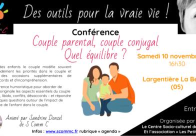 Conférence «couple parental, couple conjugal, quel équilibre ?» – L'Argentière La Bessée