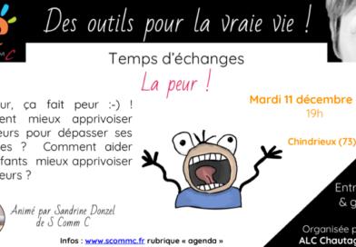 Temps d'échanges «apprivoiser la peur» – Chindrieux (Savoie)