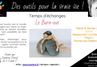 Temps d'échanges sur le burn-out – Portes Les Valence (Drome)