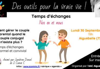 temps d'échanges «Nos ex et nous» – Aiguebelle (Savoie)