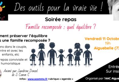 Soirée repas «Famille recomposée, comment préserver l'équilibre ?»