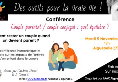 Conférence «Couple parental, couple conjugal : quel équilibre ?» – Aiguebelle – Savoie