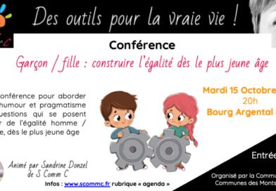 Conférence «Garçon – Fille : construire l'égalité dès le plus  jeune âge» – Bourg Argental (Loire)