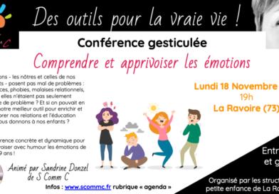 conférence «Comprendre et apprivoiser les émotions» – La Ravoire (Savoie)