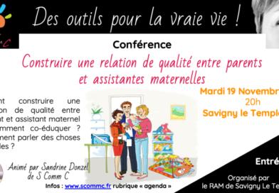 Conférence «Construire une relation de qualité entre parents et assistantes maternelles» – Savigny Le Temple (77)