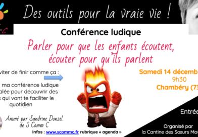 Conférence décalée «Parler pour que les enfants écoutent, écouter pour qu'ils parlent» – Chambéry (Savoie)