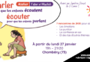 Atelier «Parler pour que les enfants écoutent, écouter pour qu'ils parlent» – Chambéry (Savoie)