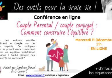 Conférence «Couple parental, couple conjugal : comment construire l'équilibre ?» – En ligne
