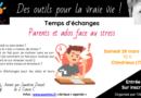 temps d'échanges «Les ados et leurs parents face au stress» – Chindrieux (Savoie)