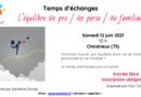 Temps d'échanges «L'équilibre vie pro/vie perso/vie familiale» – Chindrieux (Savoie)